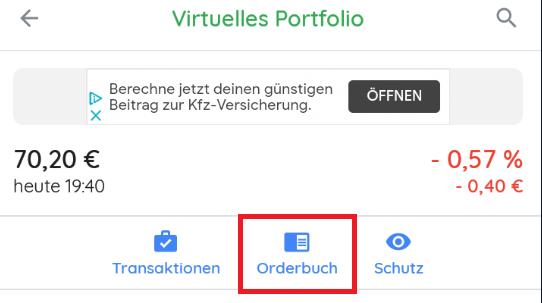aktienapp Orderbuch